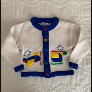 Vintage Boys Button Down Sweater Quiltex size 2T
